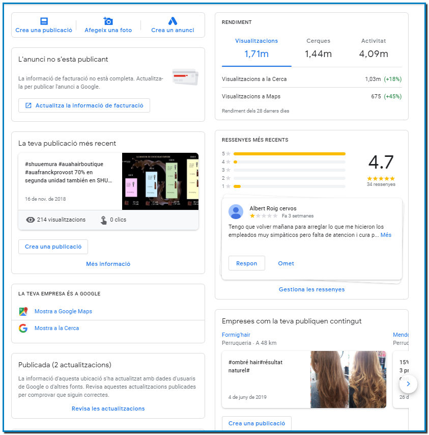 Guía de Google Business ¿Te gustaría mejorar tu visibilidad en Google Maps? Lo mejor para posicionar su NEGOCIO en GOOGLE. +376360387 - T.+33608866146 -