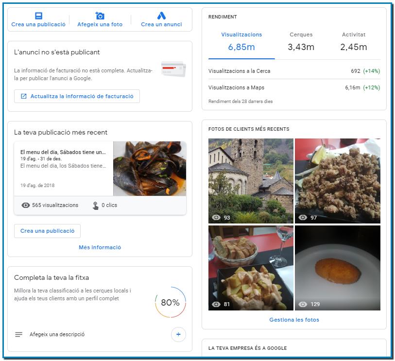 Oferta Posicionamiento web con la Guía de Google Business - Incrementamos su ventas con la ayuda de Google My Business a 19 de Junio del 2019