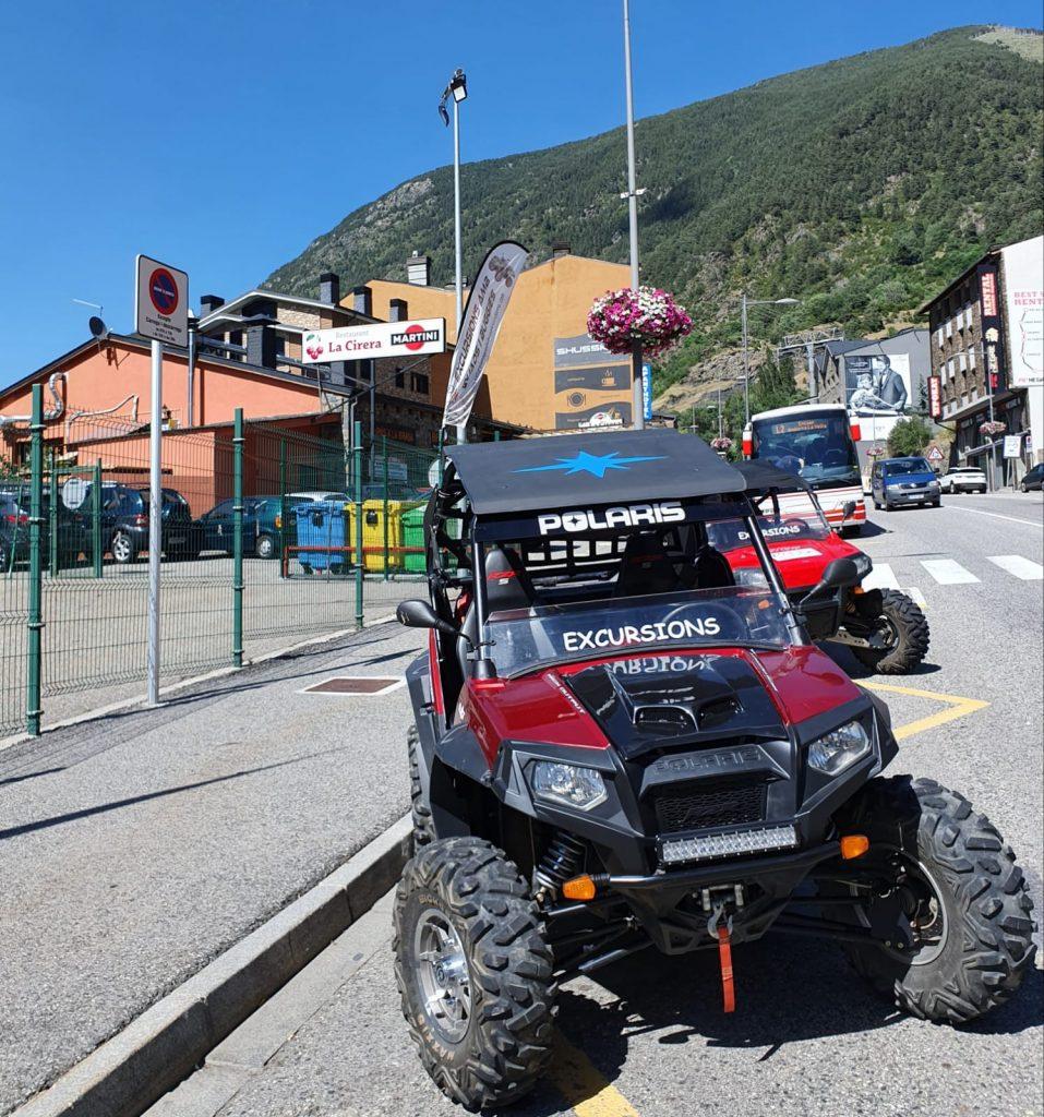 Aquest Lloguer de quads i buggies per excursions estan situats deban de Tècnic SPORTS a ENCAMP i al costat del RESTAURANT LA CIRERA al FUNICAMP.