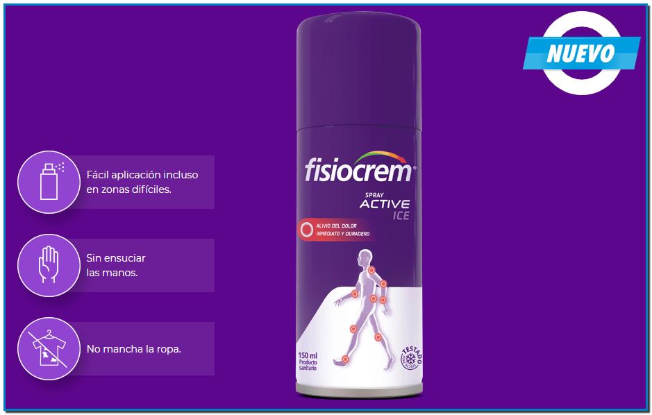 Comprar Fisiocrem Spray Active Ice en Gran Farmacia Online Andorra es una solución efectiva indicada para aliviar el dolor de pequeñas dolencias proporcionando un efecto frío inmediato.