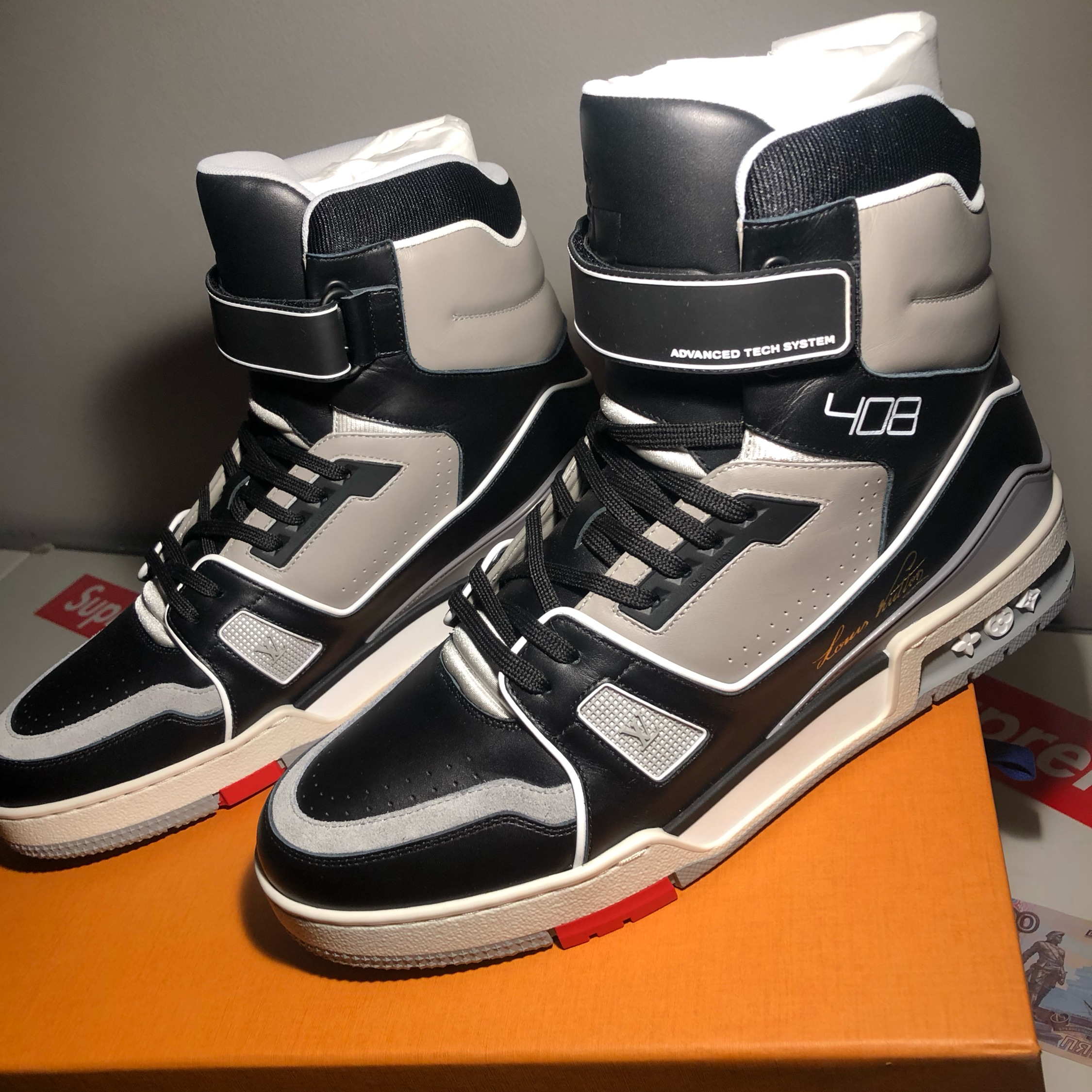 Men's Artistic Director Virgil Abloh was inspired by vintage basketball shoes in creating his first Louis Vuitton sneaker design. The LV Trainer is both retro and innovative while incorporating several of Louis Vuitton's signatures and featuring exceptional Italian craftsmanship.