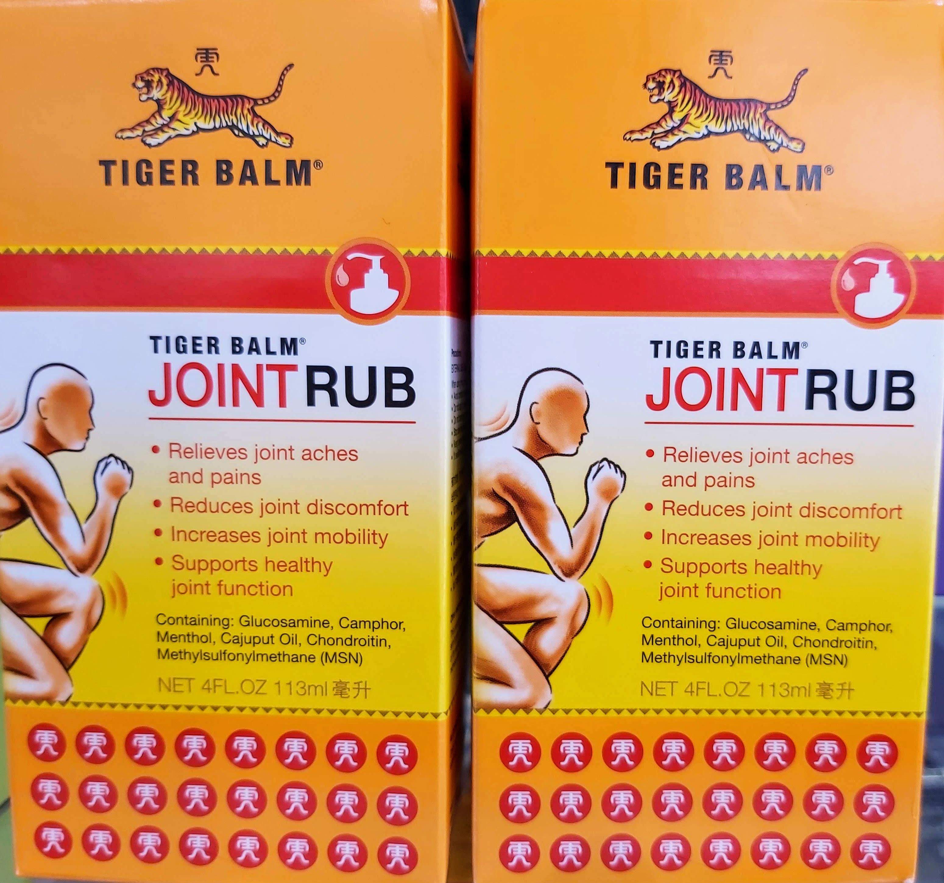 Comprar Joint Rub en Gran Farmacia Andorra Online especial para las articulaciones la eficacia de Tiger Balm formulación para alivio del dolor de la artritis dirigida a los dolores y rigidez en las articulaciones.