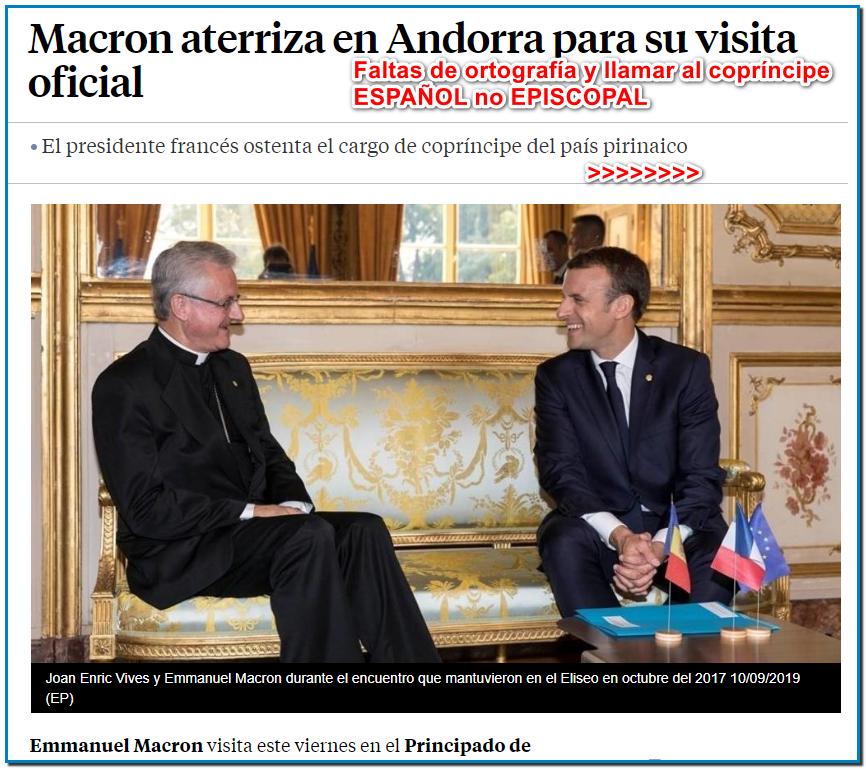 """A mediodía, el Jefe de Estado pronunciará un discurso en la sesión solemne del Consejo General y al final del día se dirigirá a la población, antes de regresar a París el viernes por la noche. Se espera que Xavier Espot, el nuevo jefe del gobierno andorrano, elegido en mayo, complete la negociación del Acuerdo de Asociación de Andorra con la Unión Europea y continúe la diversificación de la economía de este antiguo paraíso fiscal, que sale de una crisis bancaria. Andorra abandonó la """"lista gris"""" de paraísos fiscales de la OCDE en 2010 y desde entonces ha introducido tasas impositivas moderadas, aunque mucho más bajas que el promedio en la UE. En 2018, el principado experimentó una movilización social sin precedentes contra una situación social degradada y el alto costo de los bienes inmuebles. Banca Privada d'Andorra (BPA), el cuarto banco más grande del país acusado de lavar miles de millones de dólares de la mafia rusa y china y la petrolera estatal venezolana PDVSA, ha sido liquidado, sacudiendo un sector bancario que representa el 20 por ciento del PIB del país. economía local El principado ha unido fuerzas con la UE para levantar su secreto bancario, una medida que entró en vigor en enero de 2018. Ahora la información de cualquier cuenta bancaria en poder de un no residente se comunica al país de origen para Nacionales de la UE."""