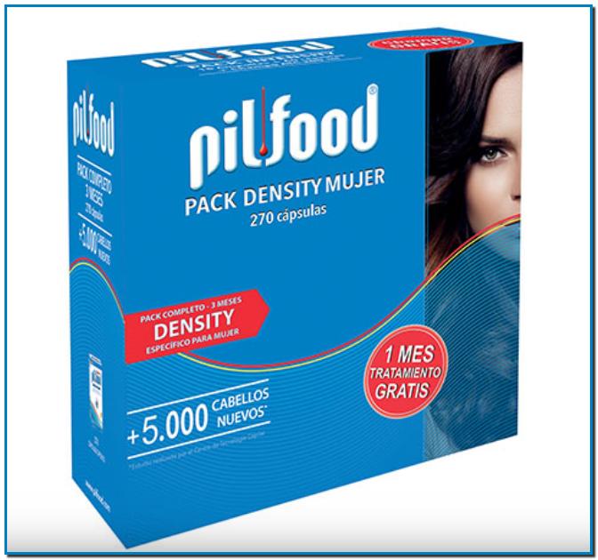 Comprar Pack Pilfood® Density 3 Meses Mujer en Gran Farmacia Andorra Online para la caída moderada del cabello