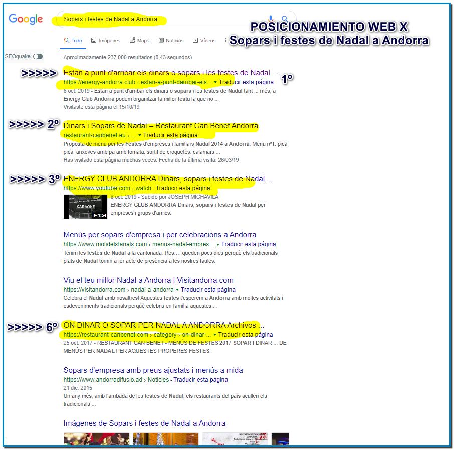 El posicionamiento local o SEO local es conseguir aparecer las SERP de Google cuando los usuarios hacemos búsquedas locales, es decir, en la misma ciudad o zona en la que tienes tu negocio o empresa.