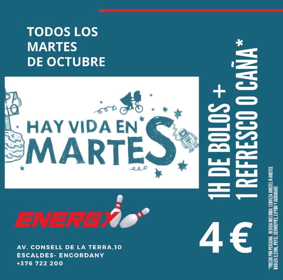 Energy Club Andorra Bowling a Escaldes ves a jugar a los bolos todos los martes de octubre por 4€ con la bebida incluida - Oferta Especial Octubre 2019