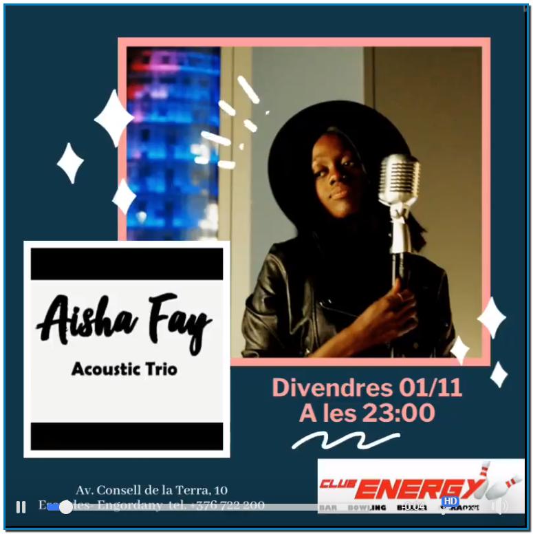 Celebra el 🎃Halloween🎃 d'una manera molt original! Aquest divendres 01/11 concert en viu del grup Aisha Fay que et posarà els pèls de punta amb la seva veu i et farà sentir mil emocions alhora.