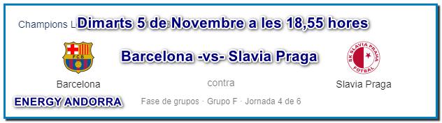 ¿On veure el futbol a Andorra? Dimarts 5 de novembre a les 18,55 hores vine a Energy Andorra podràs veure el Futbol – COPA D'EUROPA. Reserva ara la teva taula. Recorda a les 18,55 hores de la tarda! «LA COPA D'EUROPA»