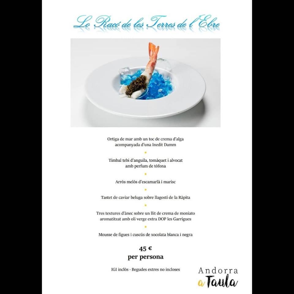 Ja han arribat les esperades jornades gastronòmiques Andorra a Taula 2019. Durant tot el mes de novembre, no et pots perdre el menú que hem preparat al nostre restaurant Lo Racó de les Terres de l'Ebre a l'Hotel Eureka Escaldes😋
