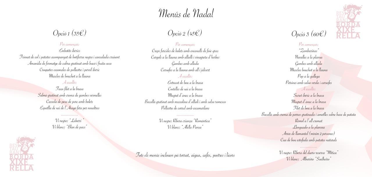 Sopars i dinars de Nadal a Andorra al Restaurant Borda Xixerella Andorra a Erts a La Massana deban Càmping Xixerella amb bona cuina de proximitat qualitat i preu.