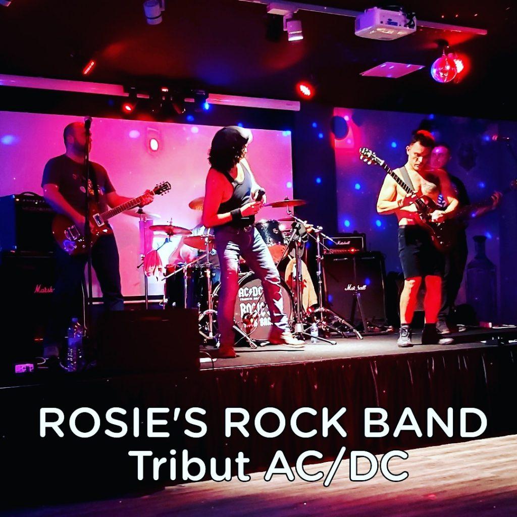 Música en directe a Energy Club Escaldes Andorra avui tribut a ACDC amb el grup ROSIE'S música en viu copes còctels bolera karaoke festes de nadal i cap d'any 2020