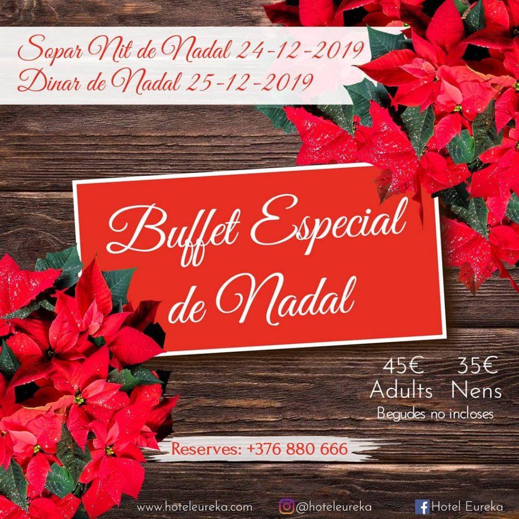 AQUEST ANY NO CAL QUE CUINIS, VINA AL BUFFET A HOTEL EUREKA ESCALDES ESPECIAL DE NADAL I GAUDEIX DELS TEUS!🎊🥰🍾