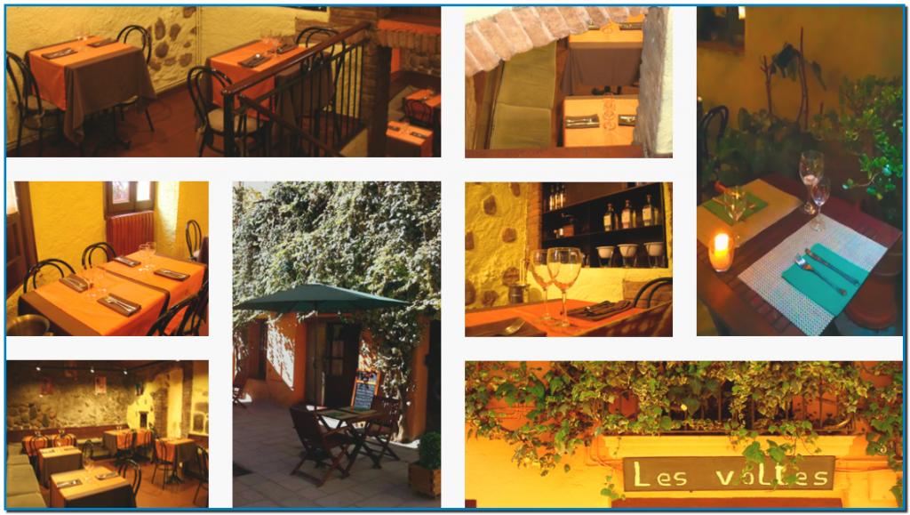 El Restaurant Les Voltes situat al casal de Guillem Borriana de Sabadell restaurant íntim i acollidor cuina tradicional i de mercat possiblement el millor restaurant de sabadell