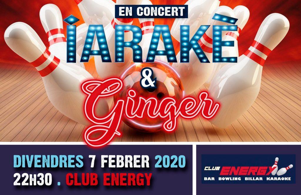 Iarakè & Ginger en el seu primer concert del 2020😍…..Us esperem el proper divendres 7 de febrer a les 22h30 al Club Energy per fer-vos ballar de valent amb la nostra música! No hi falteu🤩😍💃