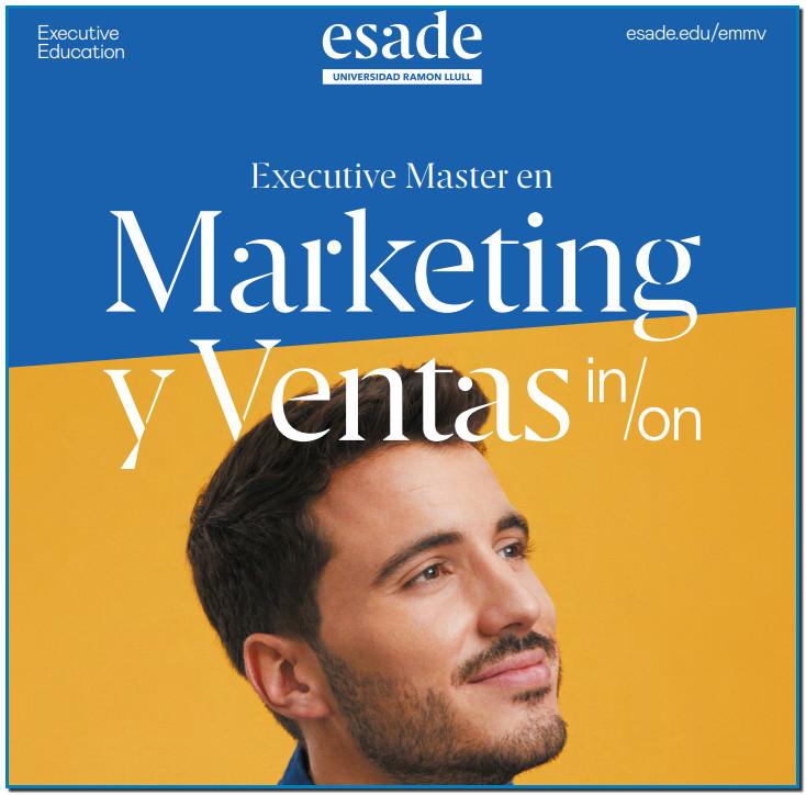 El Executive Master de Esade está diseñado para profesionales de Marketing y Ventas que deseen impulsar su carrera, afrontar nuevos retos y aportar un valor añadido diferencial más sólido.
