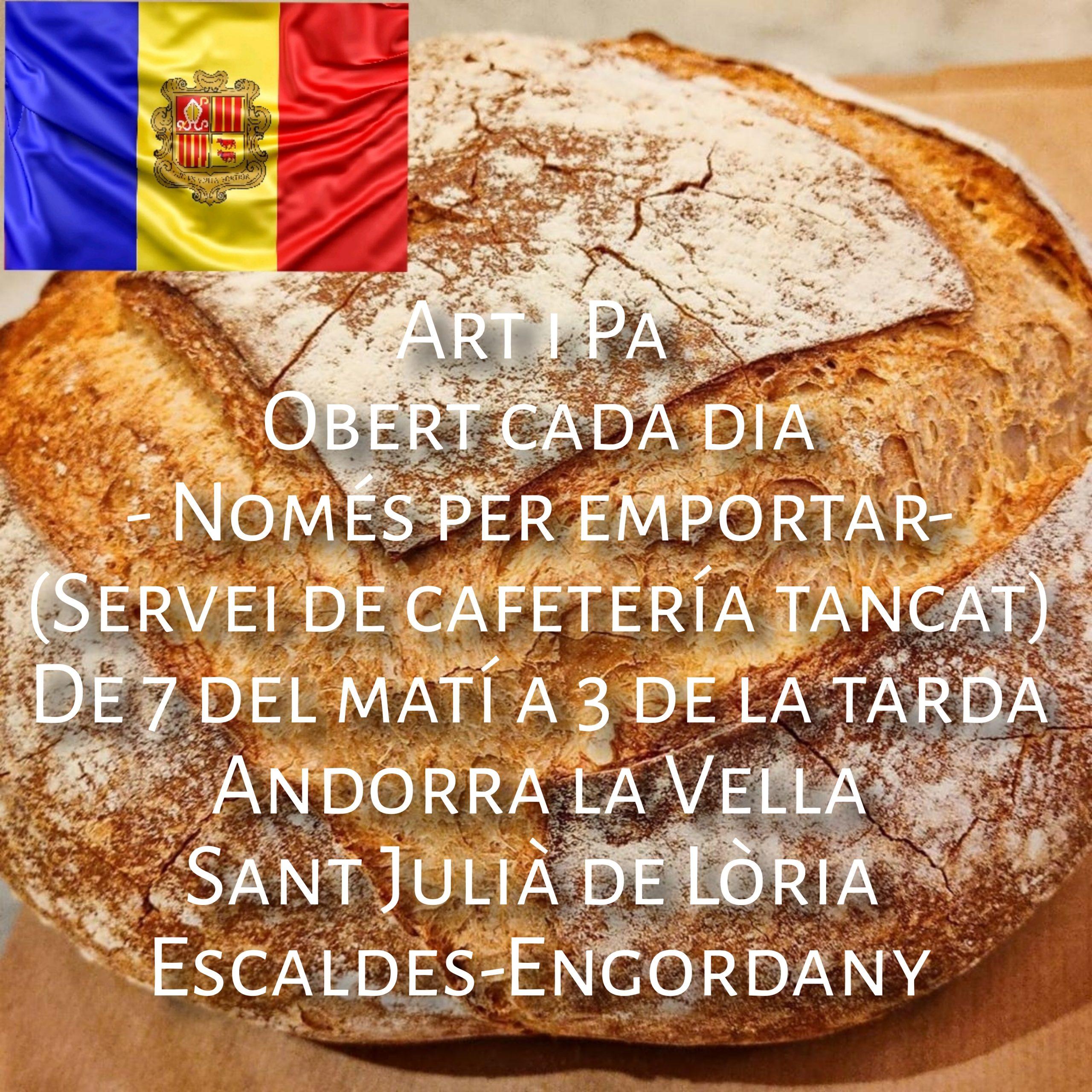 """Art i Pa Andorra Seguint el decret del Govern d'Andorra que determina el tancament d'establiments d'alta concurrència per """"disminuir l'activitat i evitar el risc de contagi"""""""