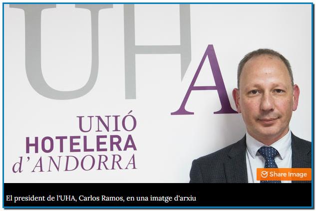 Els hotelers alerten de la debilitada tresoreria del sector La Unió Hotelera d'Andorra preveu una baixa ocupació dels establiments durant els pròxims mesos, motiu pel qual un 20% es planteja no tornar a obrir fins a la temporada d'hivern