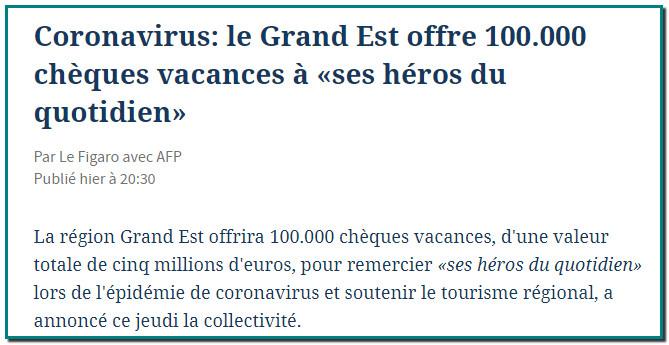 L'initiative « Chèque Vacances en Grand Est » permettra d'offrir 10 000 chéquiers vacances de 500 euros aux salariés du secteur privé de la région