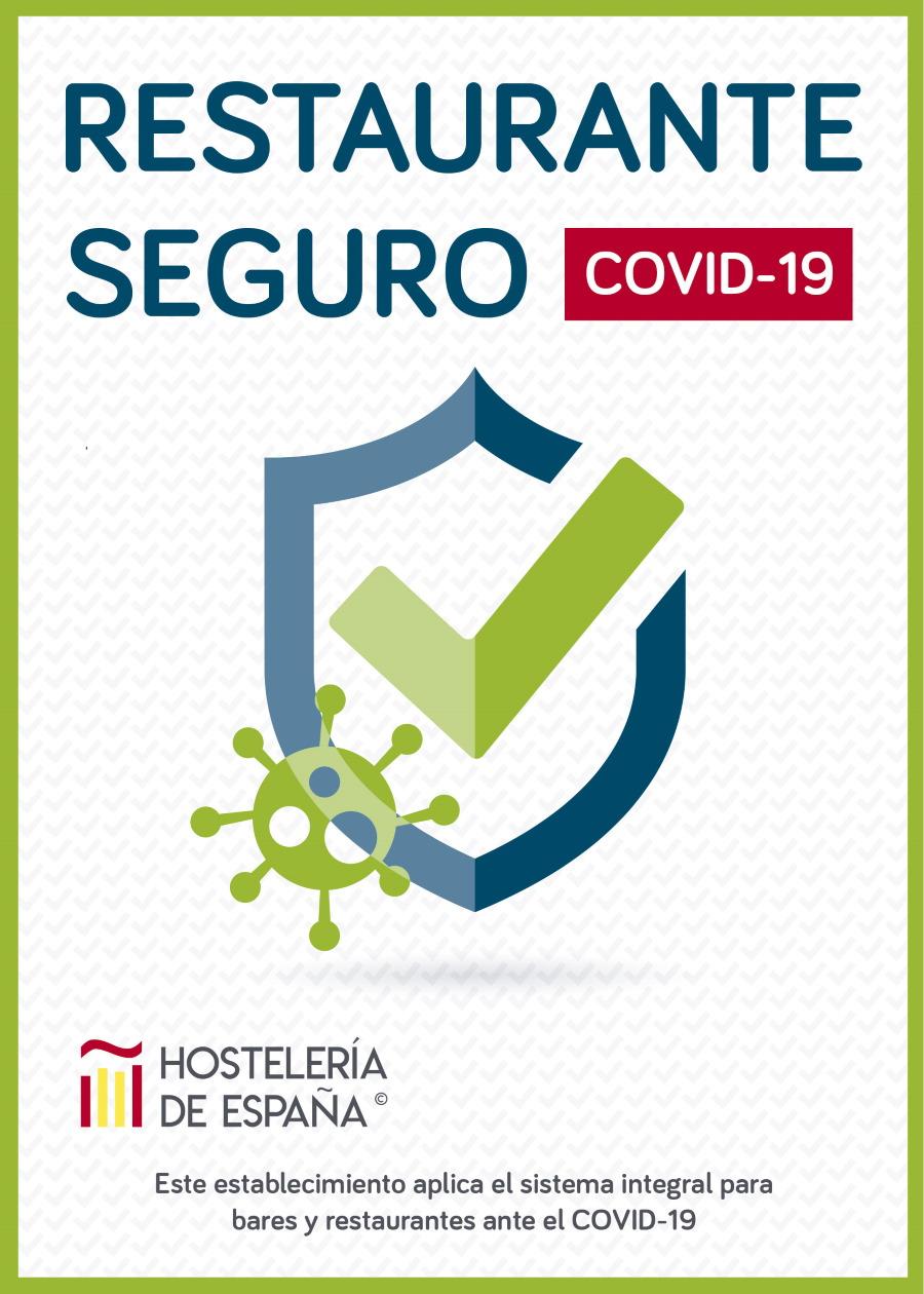 Hostelería segura, el nuevo distintivo para locales con medidas anti-Covid hostelería segura' frente a la Covid-19 y dotarles de una serie de servicios y productos que garantizan el cumplimiento de las medidas de seguridad