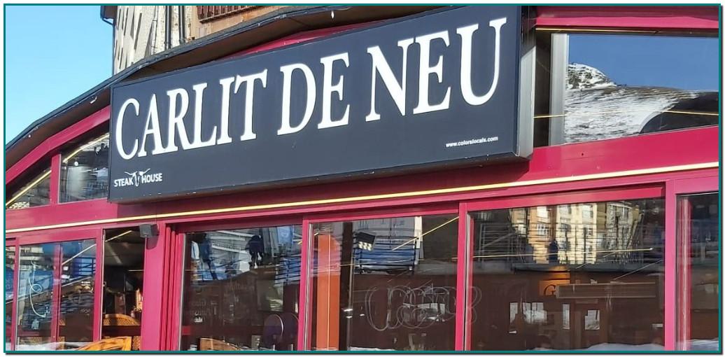 Contact Restaurant EL CARLIT de NEU AD200 PAS DE LA CASA Grill – Pizza – Pasta – Fondue – Menú FORMULE DE BOEUF AU GRILL FORMULE AGNEAU AU GRILL HAMBURGERS – SOUPES Av. d'Encamp, 25 Pas de la Casa T.(+376) 855 211