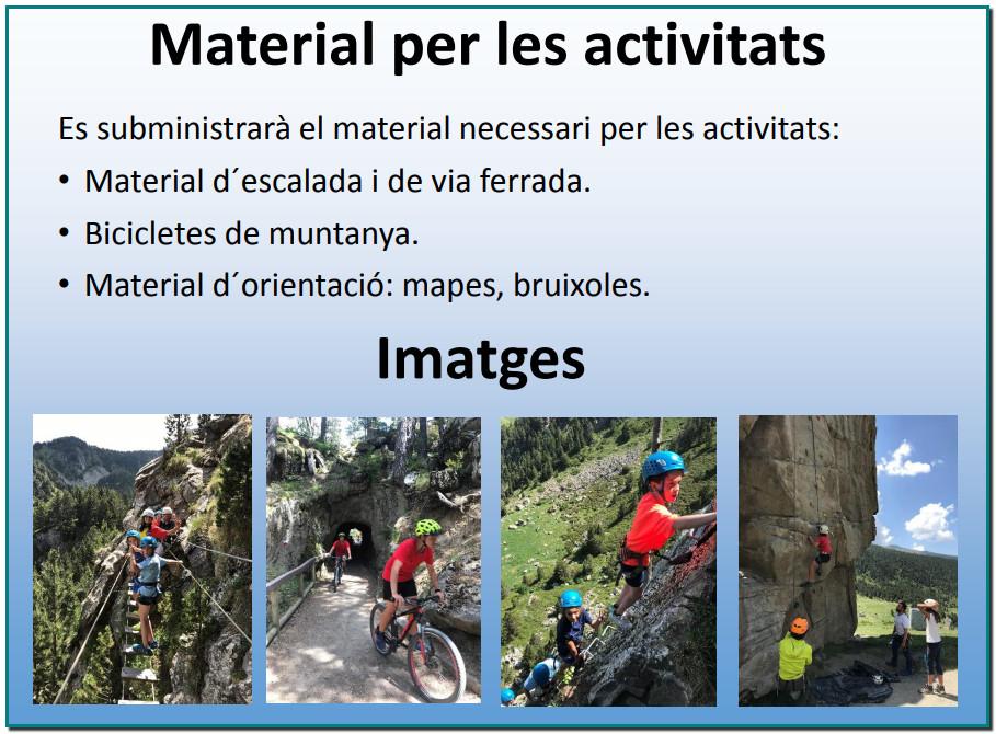 CAMPUS AVENTURA JULIOL 2020 ANDORRA - Via Ferrata - Bicicleta de muntanya BTT Parc acrobatic – Escalada en rocòdrom Muntanyisme - Orientació #aventura #viaferrata #muntanyisme #parcacrobatic