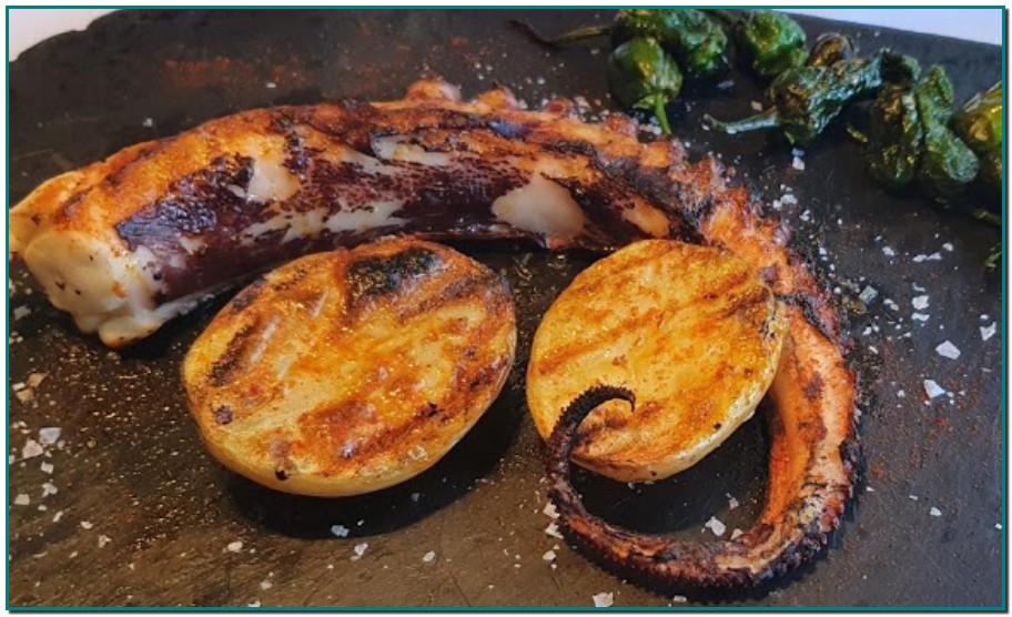 Restaurant Borda Típica Andorrana Xixerella El pop a la brasa és una recepta que queda espectacular. En tan sols uns vint-i-cinc minuts s'obté un plat amb pop sense igual