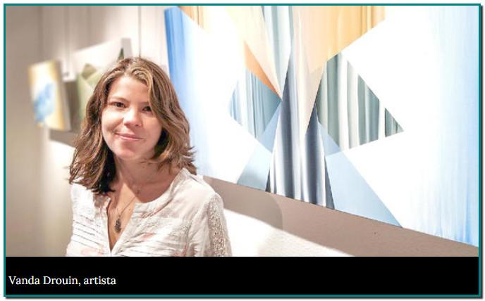 """La línia com a punt de sortida ha estat la primera mostra de la Vanda Drouin. Aquesta jove encampadana de 27 anys ha estudiat una fusió d'art i disseny a l'Escola Massana de Barcelona i ara combina el seu treball com a docent de pintura i dibuix per a nens i adults amb el treball al seu taller. La docència la fa """"créixer com a persona"""""""