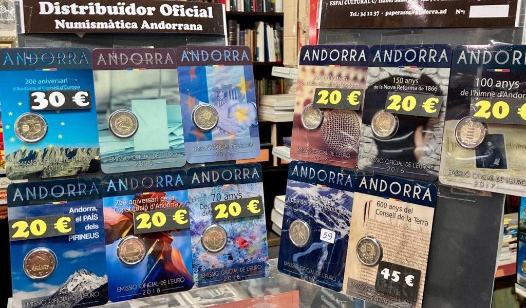 En Filatelia La Paperassa Andorra podéis comprar los nuevos euros de Andorra en Andorra para colección, escribir a Charly Filatelia Forma (La Paperassa) – Avda. del Fener, 24 – Escaldes - Engordany.