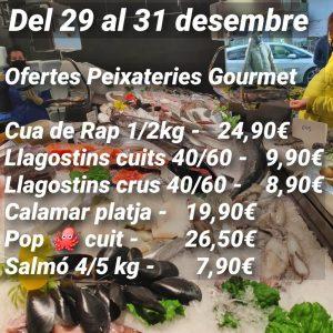 Ofertes de peix i marisc a Peixateries Gourmet Andorra del 29 al 31 de desembre del 2020