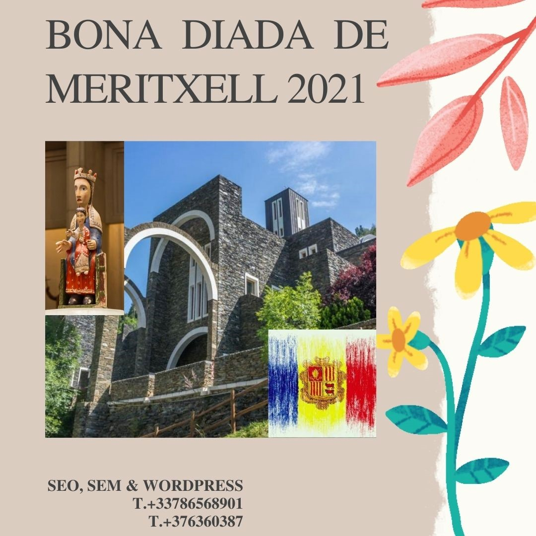 BONA DIADA DE MERITXELL 2021 - SEO SEM WORDPRESS - +33786568901